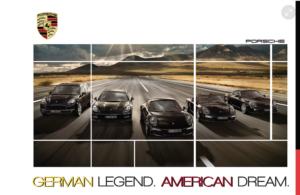 Porsche portfolio mockup for creative professionals.