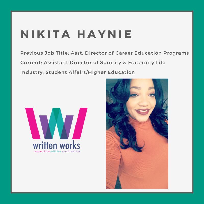 How to Change Jobs - Written Works - Nikita Haynie